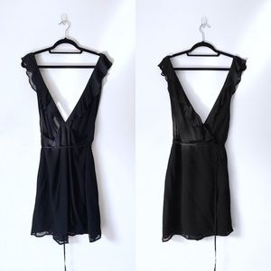 NWOT Reformation Waterfall Dress in Black Size L